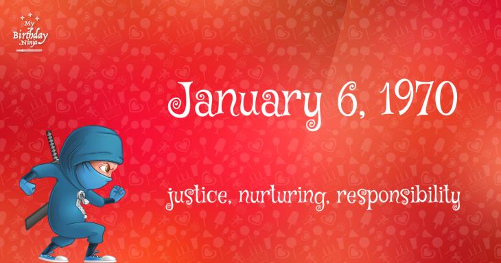 January 6, 1970 Birthday Ninja