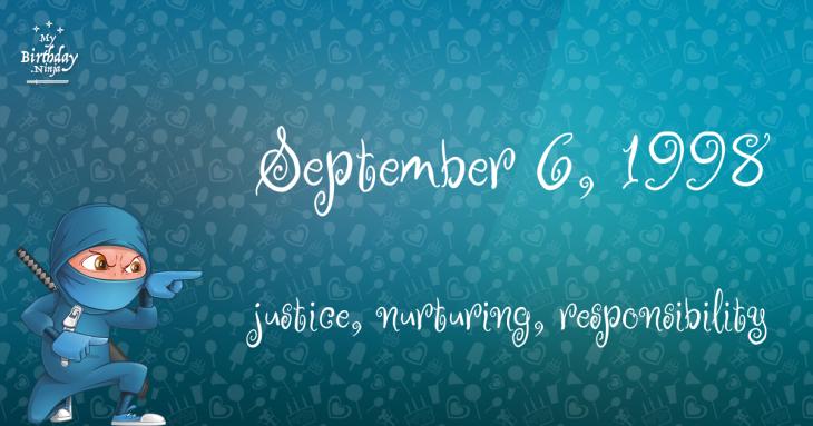 September 6, 1998 Birthday Ninja