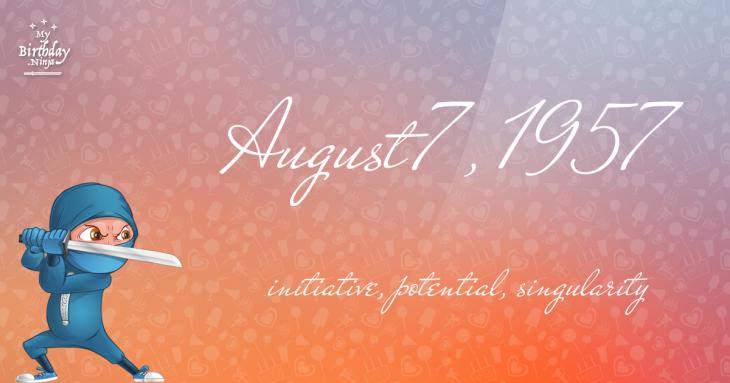 August 7, 1957 Birthday Ninja