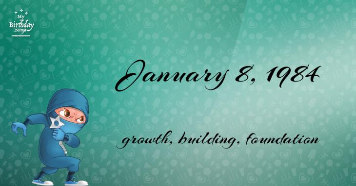 January 8, 1984 Birthday Ninja