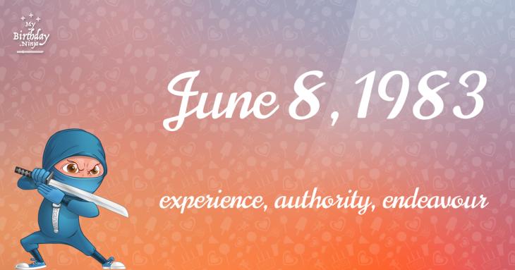 June 8, 1983 Birthday Ninja