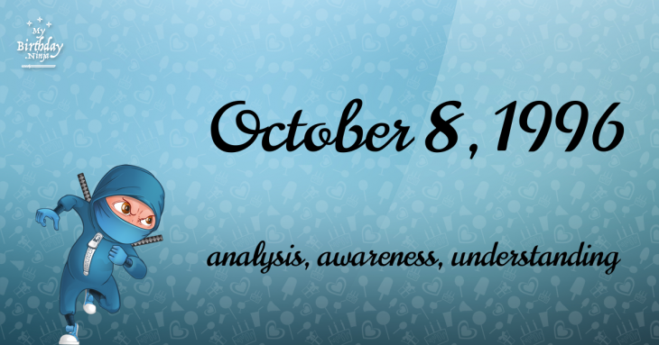 October 8, 1996 Birthday Ninja