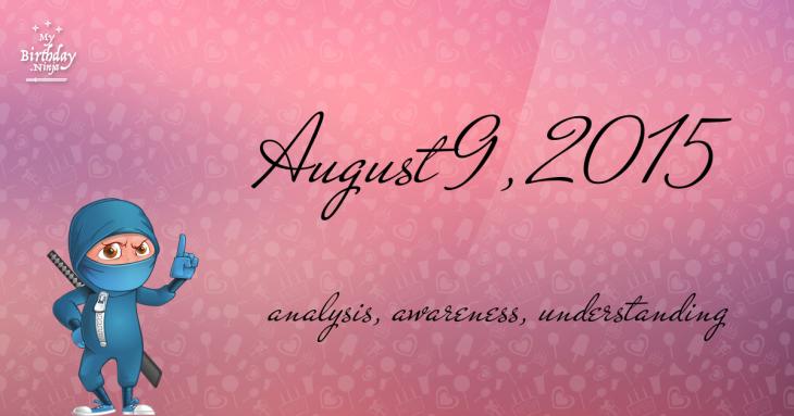 August 9, 2015 Birthday Ninja