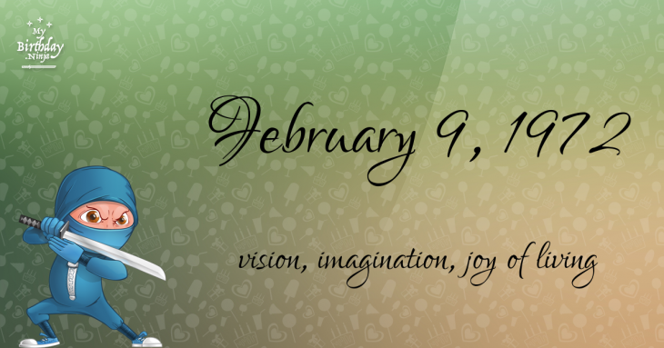February 9, 1972 Birthday Ninja