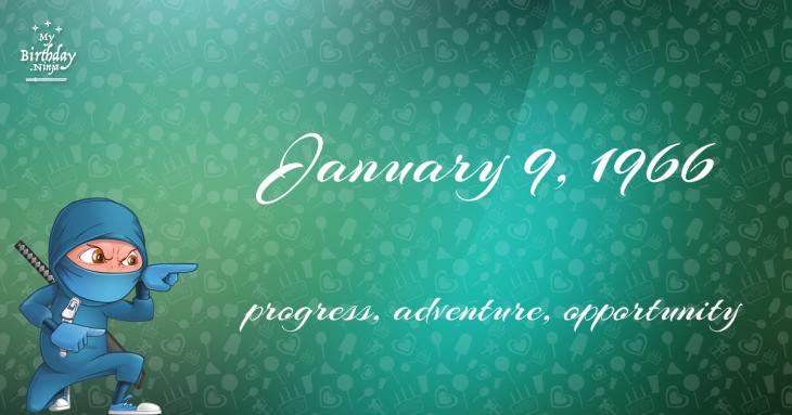 January 9, 1966 Birthday Ninja