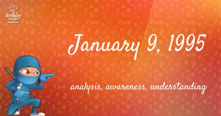 January 9, 1995 Birthday Ninja