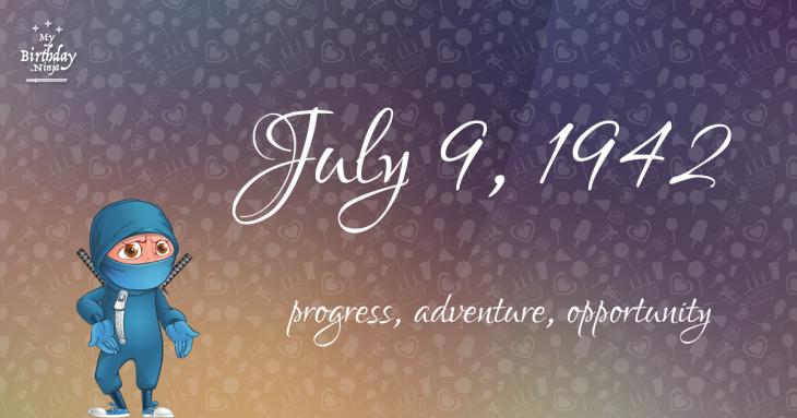 July 9, 1942 Birthday Ninja
