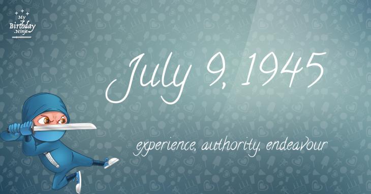 July 9, 1945 Birthday Ninja