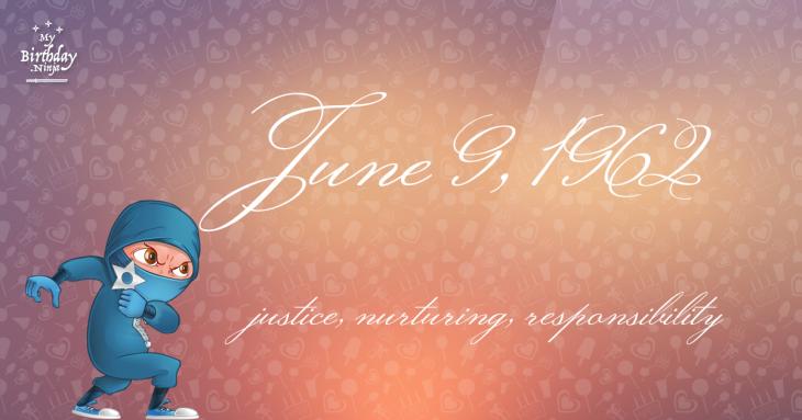 June 9, 1962 Birthday Ninja