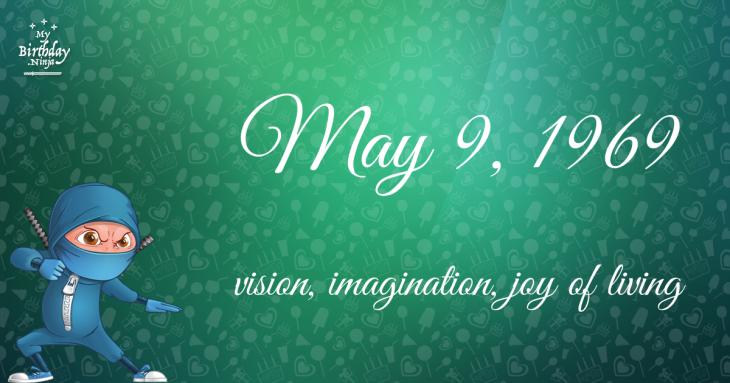 May 9, 1969 Birthday Ninja