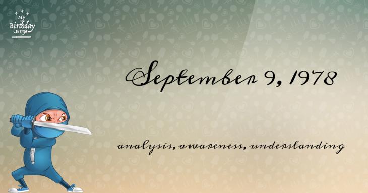 September 9, 1978 Birthday Ninja