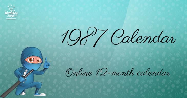 1987 Calendar