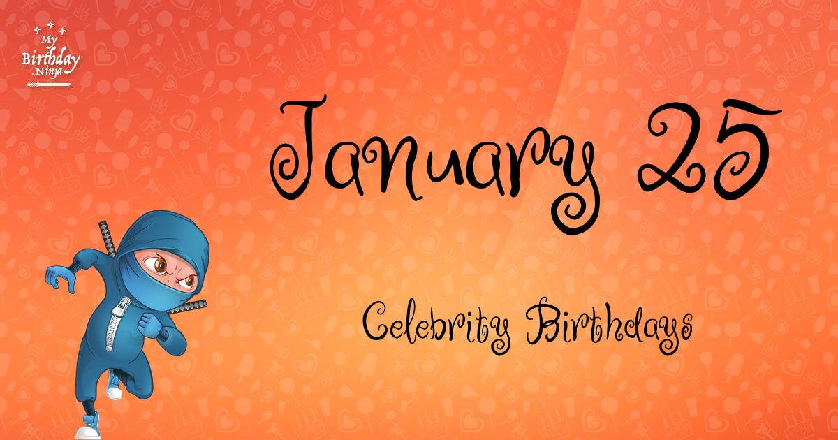 January 1 Famous Birthdays list - Holiday calendar