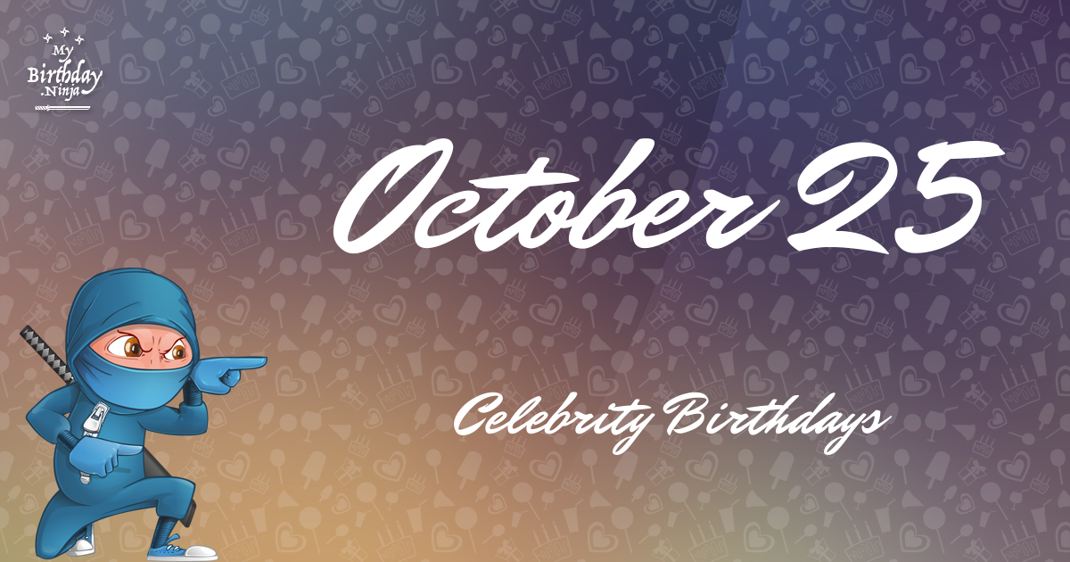 Famous October Birthdays from Holiday Insights
