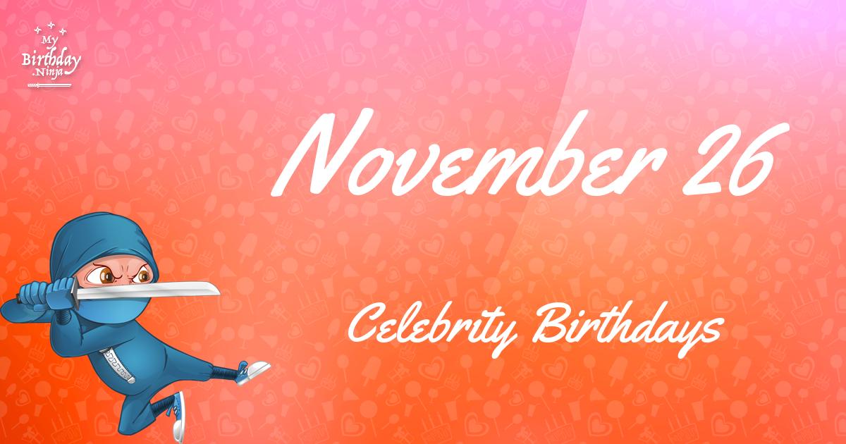Famous People's Birthdays, November, United Kingdom ...