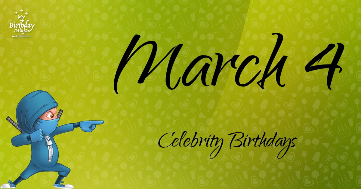 Famous March Birthdays at Holiday Insights
