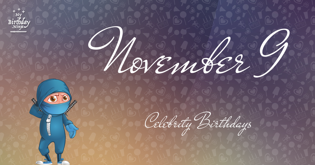 November 1 - Famous Birthdays - On This Day