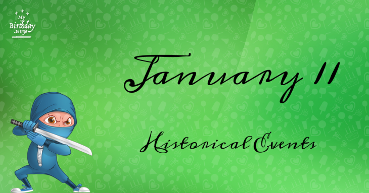 January 11 Birthday Events Poster