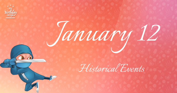January 12 Birthday Events Poster