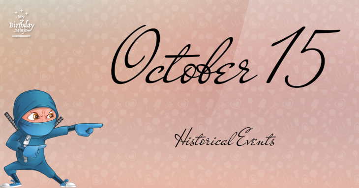 October 15 Birthday Events Poster