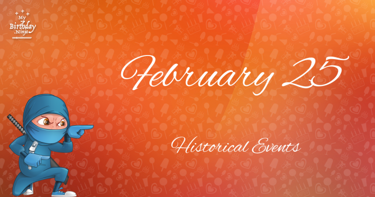 February 25 Birthday Events Poster