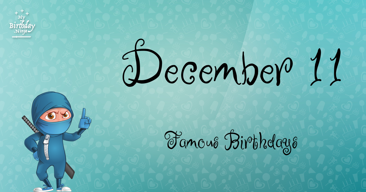 December 3 Famous Birthdays | SunSigns.Org