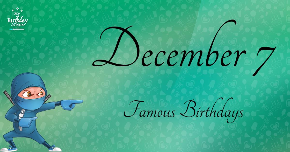 Celebrity birthdays for the week of Dec. 1-7 - news.yahoo.com