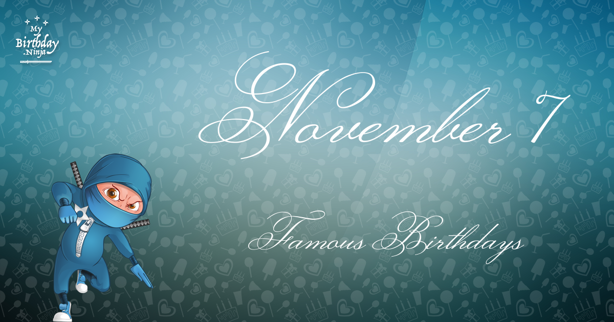 November 2 - Famous Birthdays - On This Day