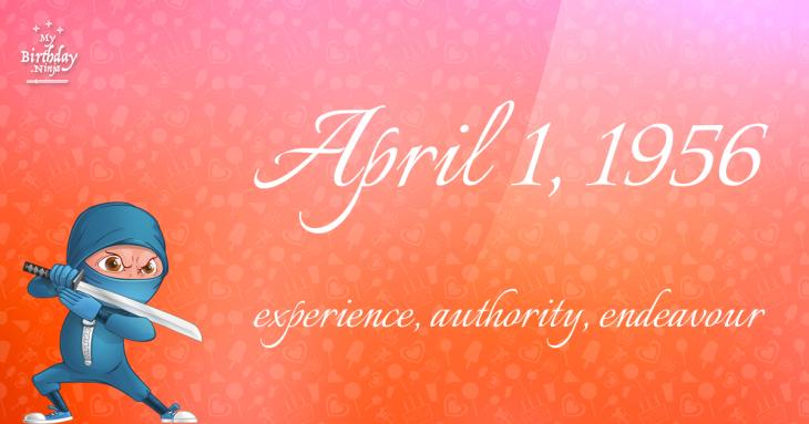 April 1, 1956 Birthday Ninja
