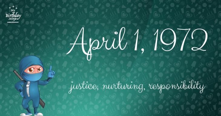 April 1, 1972 Birthday Ninja