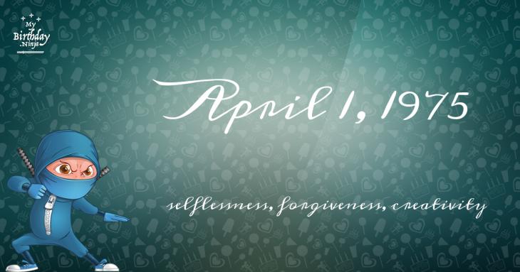 April 1, 1975 Birthday Ninja