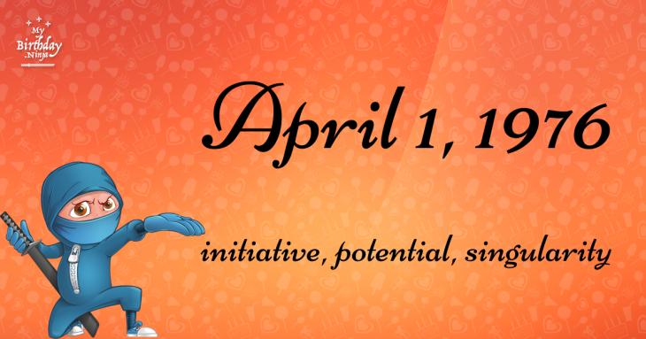 April 1, 1976 Birthday Ninja