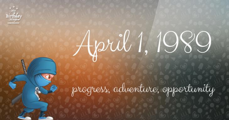 April 1, 1989 Birthday Ninja