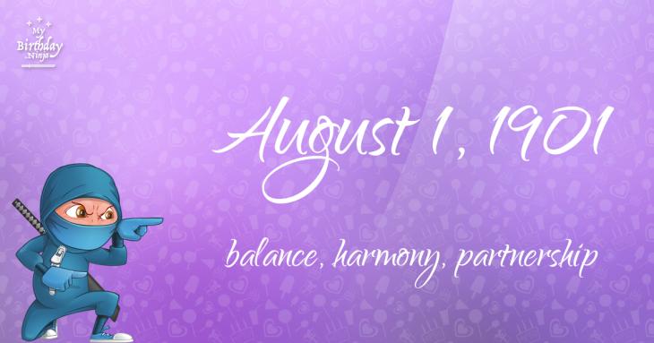 August 1, 1901 Birthday Ninja