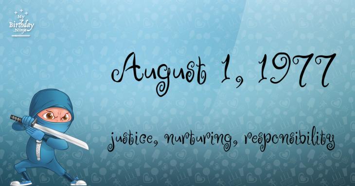 August 1, 1977 Birthday Ninja