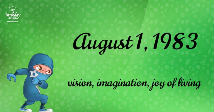 August 1, 1983 Birthday Ninja