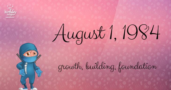 August 1, 1984 Birthday Ninja