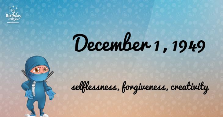 December 1, 1949 Birthday Ninja
