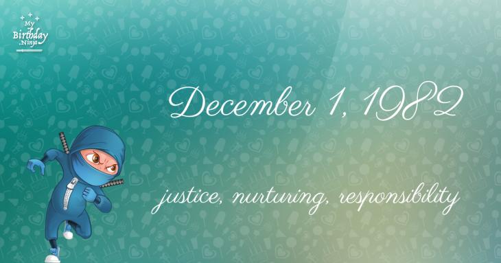 December 1, 1982 Birthday Ninja