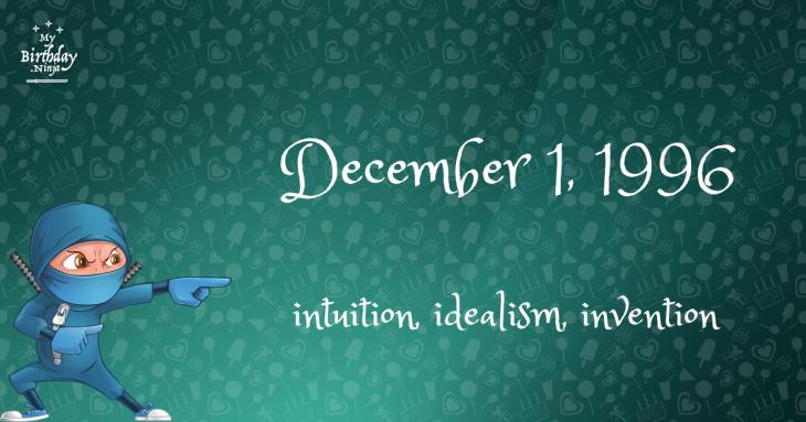 December 1, 1996 Birthday Ninja