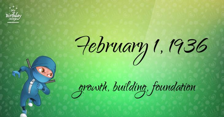 February 1, 1936 Birthday Ninja