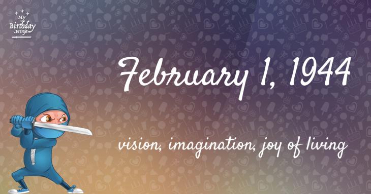 February 1, 1944 Birthday Ninja