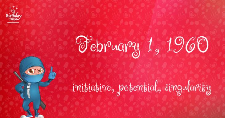 February 1, 1960 Birthday Ninja