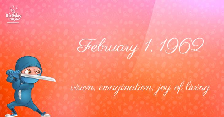 February 1, 1962 Birthday Ninja