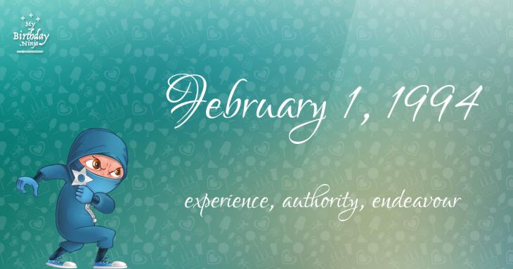 February 1, 1994 Birthday Ninja