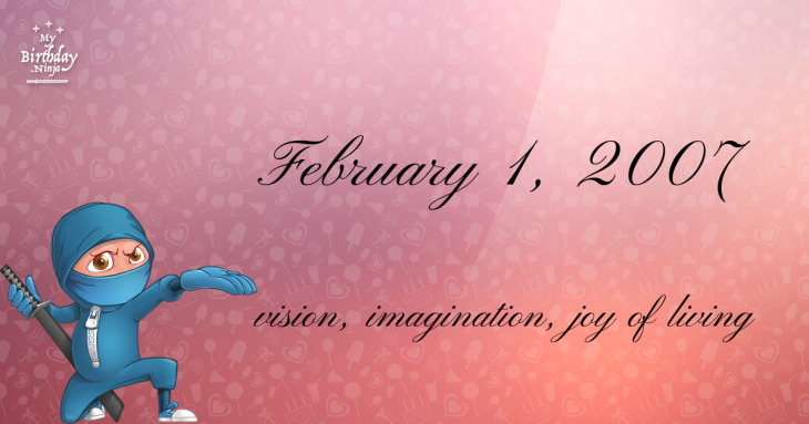 February 1, 2007 Birthday Ninja