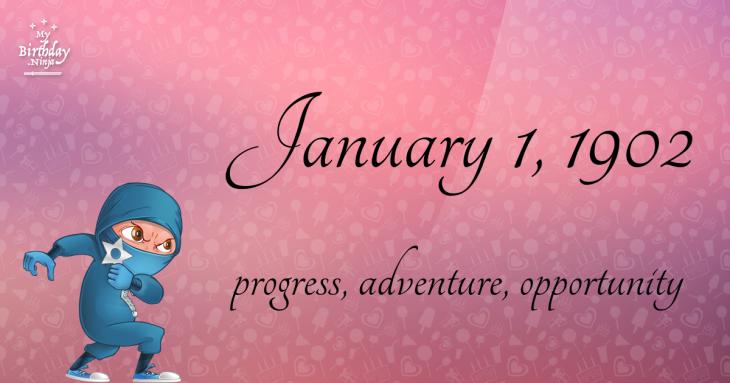 January 1, 1902 Birthday Ninja