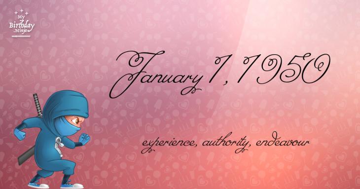 January 1, 1950 Birthday Ninja