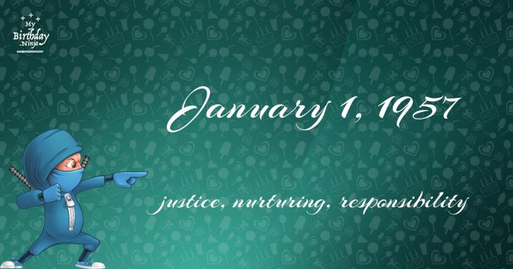 January 1, 1957 Birthday Ninja