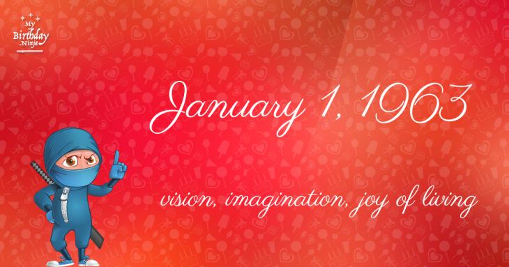 January 1, 1963 Birthday Ninja